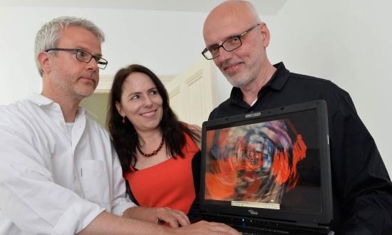 Die Area Composer Ronald Gaube, Dorothee Pilavas und Peter Hölscher präsentieren PHARUS in der galerie#23 in Velbert